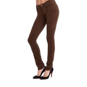 J. Brand brown denim skinny jeans